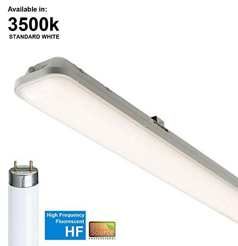 S6318 Lichtleiste / Leuchtstoffröhre, Hochfrequenzlampe, korrosionsfest, 36W, T8, 835 (3.500K), 1,2m, inkl. Standard-Fluoreszenzlampen mit weißem Licht (HF)