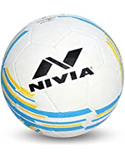 Nivia 1361AR Rubber Country Colour Molded Football, Size 3 (White)