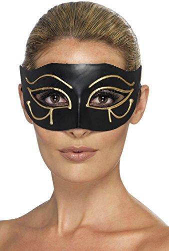 Smiffy's 44278 - Augenmaske Ägyptisches Horusauge, schwarz (Sexy Womens Halloween Kostüme Ideen)
