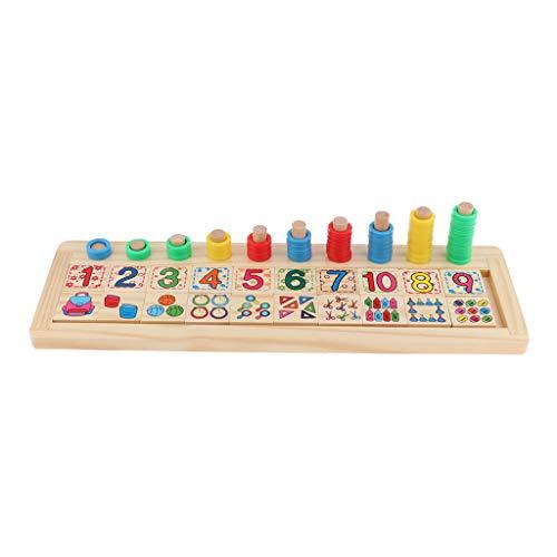 Zahlen Match Stapelspiel Mathe-Spiel Rechenspiel Rechnen Lernspiel Denkspiel für Kinder ()