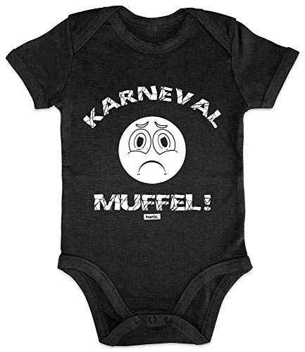 HARIZ Baby Body Kurzarm Karneval Muffel Karneval Kostüm Plus Geschenkkarten Pinguin Schwarz 3-6 Monate