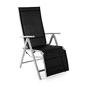 nexos zgc34464 chaise chaise longue chaise pliante avec repose pieds pour terrasse jardin. Black Bedroom Furniture Sets. Home Design Ideas
