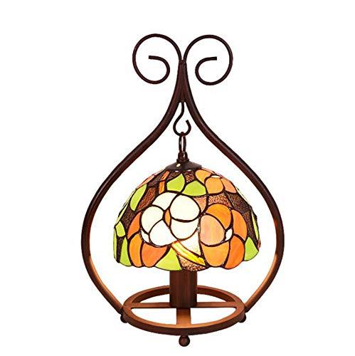 Tiffany Stil Tischlampe Schlafzimmerlampe Nachttischlampe Tischlampe,Tischleuchte,Lampe im Tiffany-Barock Stil Leuchte Tischleuchte aus farbigem Glas E27*1,φ30cm