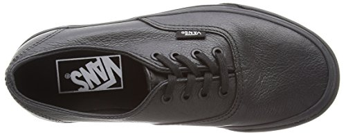 Vans Authentic Decon, Baskets Basses mixte adulte Noir - Black (Premium Leather - Black/Black)