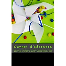 Carnet d'adresses: Adresse / Telephone / E-mail / Anniversaire / Site Web / Log in / Mot de passe / Vert