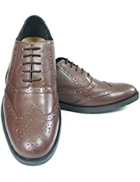 Pure Leather Formal Tan Brogue Shoes With Leather Upper, Leather Insole, Fully Leather Lining, TPR Sole And Memory...
