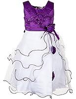 Festliches Sommer Mädchen Kleid in 4 Farben