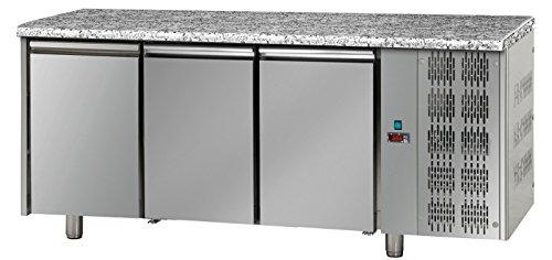 Kühltisch, 3 Türen mit Granitarbeitsplatte