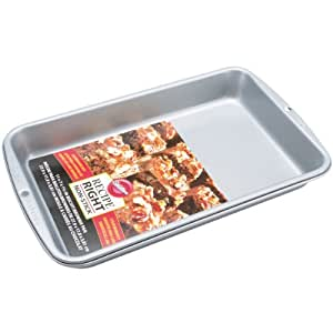 Wilton 28  x17.8 cm (11 x 7-Inch) Recipe Right Biscuit/ Brownie Tin