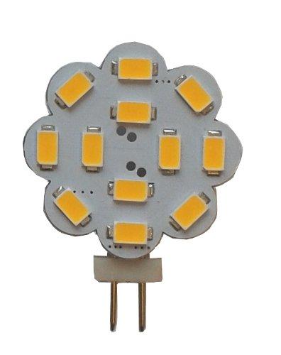 G4 LED 360Lumen 3W 12V warmweiss 2700K 12x 5630er LEDs der neuesten Generation auch für Wohnmobil geeignet (8V - 30V)