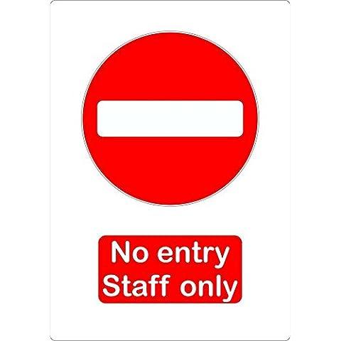 Adhesivo decorativo no entry Staff Only Entree interdit Bar Pub puerta MacBook