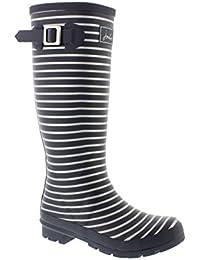 Welly Print - Grey Silver Stripe