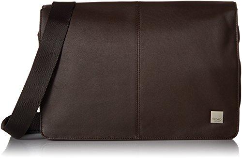 Knomo 154-303-BRN Brompton Kinsale Cross Body, Messenger Tasche mit gepolstertem 13 Zoll Notebook-Fach und integriertem RFID-Schutz für Kreditkarten | Braun