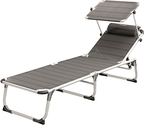 Outwell Victoria Camping Chaise Longue, Gris, 58 x 188 x 30 cm