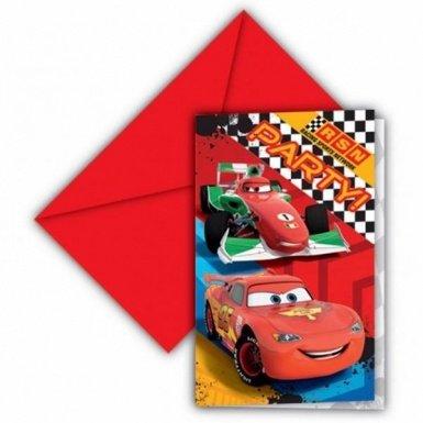 Invitations Anniversaire Cars (Disney)(x6)
