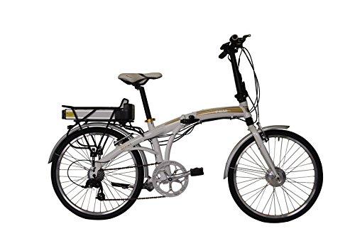 "FEM Bicicleta Eléctrica Plegable 24"" (Blanco Perla)"