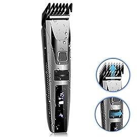 KYG Tagliacapelli Uomo Professionale Regolabarba Uomo Impermeabile e Lavabile Tagliacapelli Elettrico Precisione Pettini…