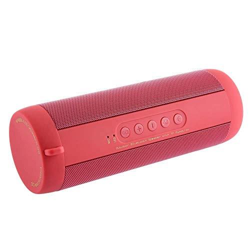 GH-YS Multifunktions-Bluetooth-Lautsprecher, Wasserdichte Outdoor-Riding-Taschenlampe Karte Tragbaren Audio-Subwoofer,Red