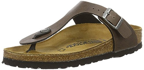 Birkenstock Gizeh Birko-Flor, Tongs Mixte Adulte Braun (Pull Up Brown)