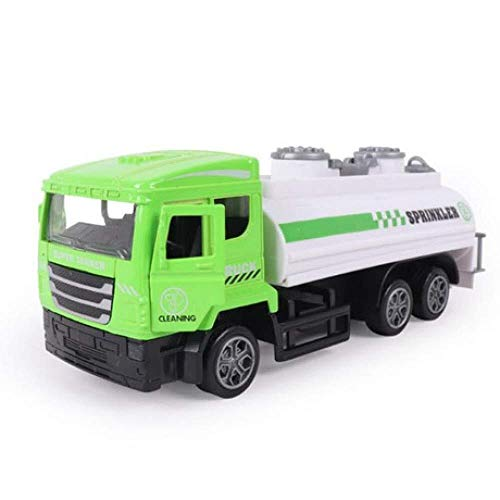 Kinder ziehen Auto Spielzeug, Inertial Drive Simulation Sprinkler Alloy Model zurück (Color : Green and white, Size : 17 * 6 * 6.5cm)