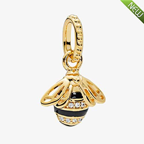 PANDOCCI 2018 nuova primavera regina ape ciondolo perlina 925 argento fai da te adatto per originale pandora bracciali moda gioielli di fascino