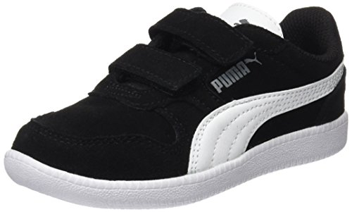 Puma Unisex-Kinder Icra Trainer SD V PS Sneaker, Schwarz Black White 07, 35 EU