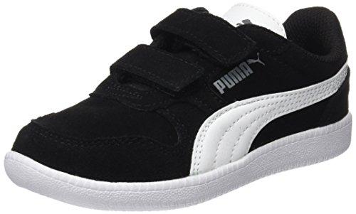 Puma Unisex-Kinder ICRA Trainer SD V PS Sneaker, Schwarz Black White 07, 33 EU