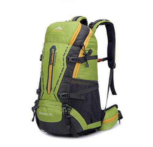 Outdoor Zaino Grande Capacità 50L Viaggi Alpinismo Borsa Con Pioggia La Copertura,Blue-OneSize Green