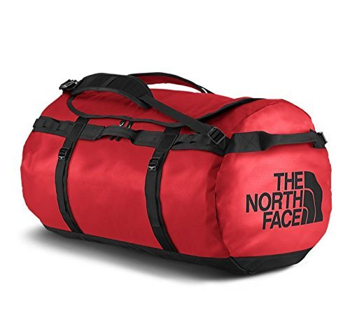 The North Face Base Camp Duffel Bolsa de Deporte, Unisex Adulto, Rojo Red/TNF Black, M