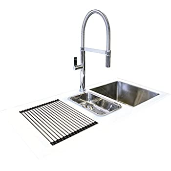 White Glass Kitchen Sink White glass kitchen sink inset stainless steel bowl with drainer reflection glass kitchen sink white 1000mm x 500mm left hand drainer workwithnaturefo