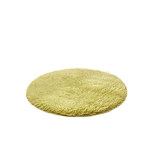 HomeMiYN Alfombra Redonda Color sólido Super Suave para el hogar, alfombras de Varios tamaños, Almohadillas...