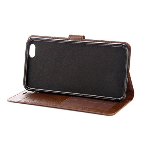 iPhone 7 Coque, Voguecase Étui en cuir synthétique chic avec fonction support pratique pour Apple iPhone 7 4.7 (Rétro marron)de Gratuit stylet l'écran aléatoire universelle Rétro marron
