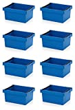 8x Mehrwegbehälter 60 x 40 x 27 blau mit Stapelbügel inkl. Zollstock * stapelbar 60x40x27 600x400x270