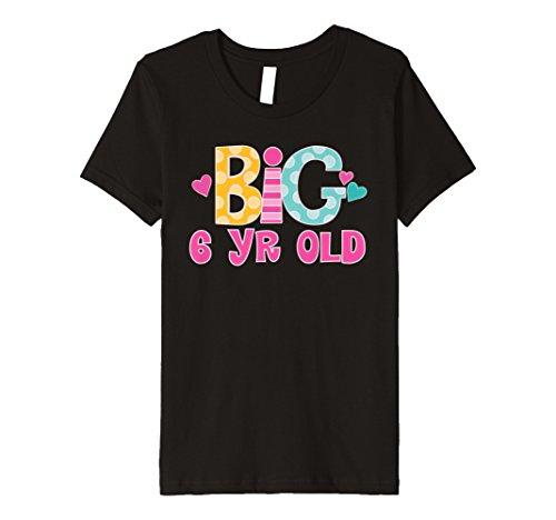 Kinder Kids 6th Birthday Cute Big 6Year Old Mädchen Party T-Shirt