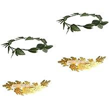 Baoblaze 4 Piezas Diademas de Hoja Dorado de Verde Romana Diosa Griega  Corona Laurel Fiesta ad7a55613f99