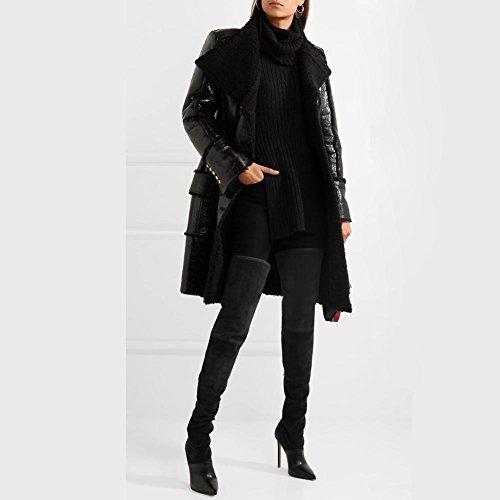 718905f204dba ... L @ yc Chaussures Femmes Suede Confort Nouveaux Produits Bottes Bout  Pointu Genou Bottes ...