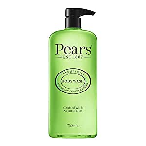 Pears Pure & Gentle Shower Gel, Body Wash with Oil Clear Formula for Removing Excess Oil with Lemon Flower Extracts, 100% Soap Free, Imported, 750 ml