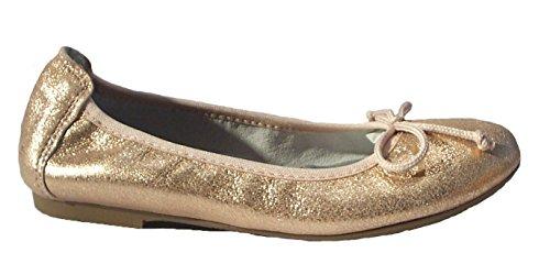 Acebo's Ballerinas Flats Slipper Leder apricot metallic Apricot