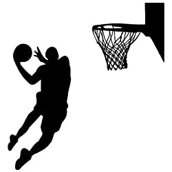 Winhappyhome de la clavada del baloncesto de los deportes pegatinas de pared para el fondo Niños habitación Sala de estar de la decoración del Adhesivos