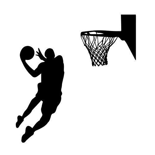 nk Basketball Sport Wand Aufkleber FüR Kinderzimmer Wohnzimmer Hintergrund Entfernbare Dekor Abziehbilder (Basketball-dekor)