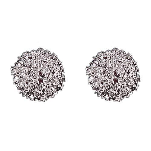 Luckiests Frauen-Metallknopf-Form-Ohrringe Kleiner Vintage-Ohr-Klipp-Pin-Bolzen-Ohr Jacke Spike Schmuck (Spike-bolzen-ohrringe Für Frauen)