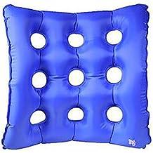 XUAN Waffle Air Seat Cushion Anti-Bedsore Air inflable cojín inflable para silla de rueda y el uso de día a día (azul) 43X43CM