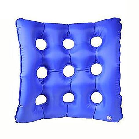 XUAN Waffle Air Seat Cushion Anti-Laisseur gonflable Coussin gonflable pour chaise roue et journée à jour (bleu) 43X43CM