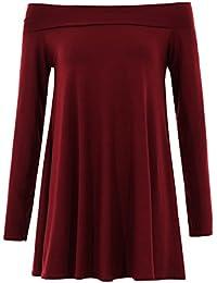 Glamour Babe - Robe - Uni - Manches Longues - Femme