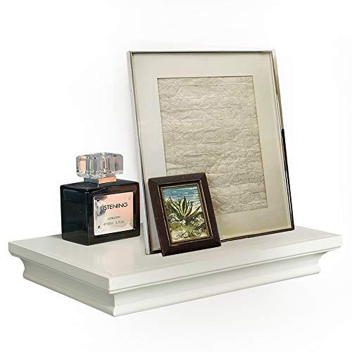 Ahdecor mensole da muro mensola a scaffale parete decorazione per salotto libreria cd legno mdf moderno, 30,48 x 19,55 x 4,32 cm, bianco,