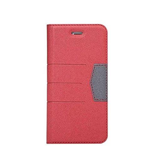 Hülle für iPhone 7 plus , Schutzhülle Für IPhone 7 Plus gemischte Farben glänzende funkelt Muster Magnetische Verschluss PU-lederne Kasten-Abdeckung mit Kickstand u. Kartenschlitz ,hülle für iPhone 7  Red