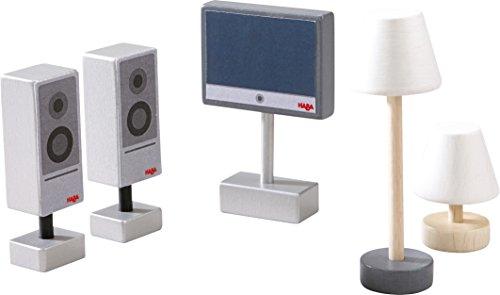 Preisvergleich Produktbild Haba 300502 - Little Friends - Puppenhaus-Zubehör Fernseher und Leuchten
