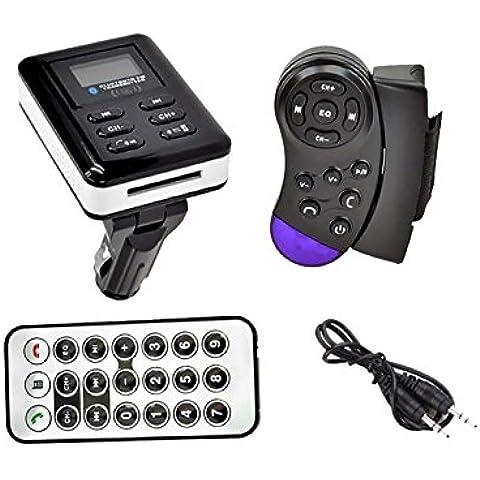 Reproductor Transmisor Lector MP3 con Manos Libres Bluetooth FM y mando adaptable al volante del coche 2681