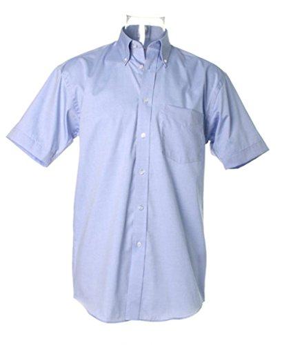 Kustom Kit chemise Oxford entreprise à manches courtes léger Bleu
