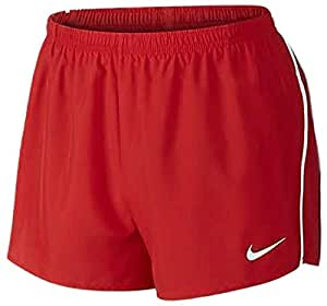 Nike Mens Tempo Split Shorts, Unisex, Mens Tempo Split Shorts, Tm Scarlet/Tm White, L